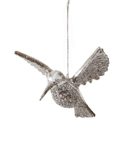 Foliage Hummingbird Ornament, Silver