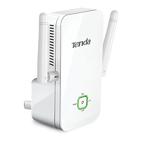 Tenda A301 300Mbps 2.4Ghz Wifi Wireless Network Range Extender With Dual External Antennas, Also Works As Wifi Adapter For Your Smart Tv