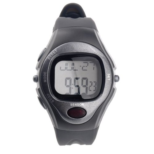 Pixnor R022M Sports Pulse Rate Monitor Calorie Counter Digital Wrist Watch with Alarm /Calendar /Stopwatch (Grey)