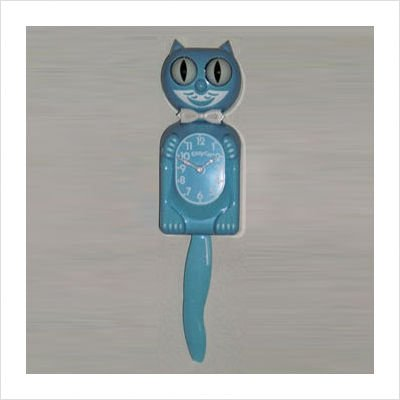Kitty Cat Clock - Baby Blue