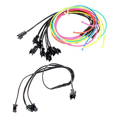 6 mètres Flexible voiture décoratifs Neon Light 2.3mm EL Wire Rope avec inverseur de voiture de lumière , Blue