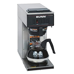 BUNN 13300.0001 VP17-1SS Pourover Coffee Brewer with 1 Warmer, Stainless Steel by Bunn