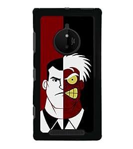 printtech Two Face Superhero Gotham Back Case Cover for Nokia Lumia 830