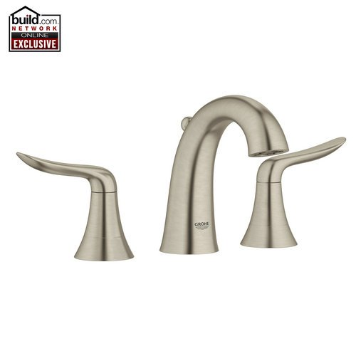 Grohe 20 425 Agira Widespread Bathroom Faucet with SilkMove® and QuickFix® Techn, Brushed Nickel