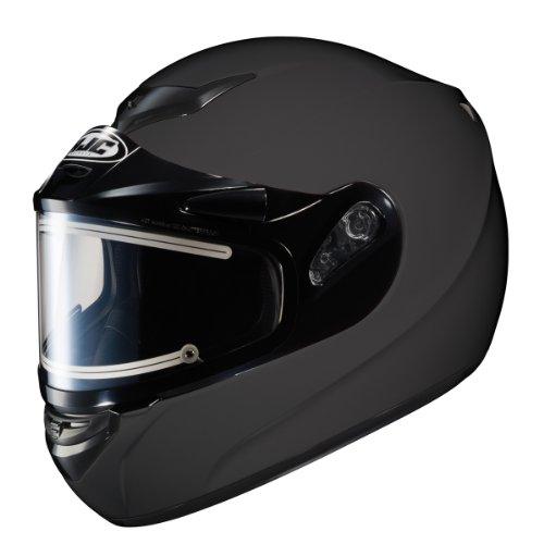 Hjc Cs-R2Sn Matte Black Snowmobile Helmet With Electric Shield - 2X-Large