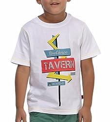 Trmpi White T-Shirt for Boys (2-10 Yrs)