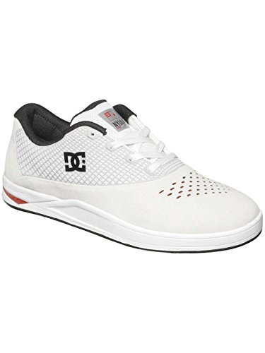 DC Mens N2 Skate Shoes, White/Red, 12D