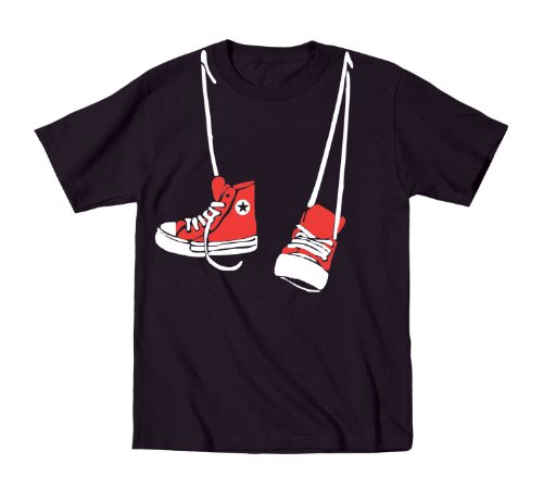 Red Converse Shoes Toddler Shirt 2T Black