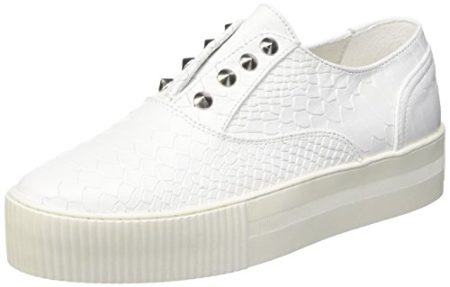 Cult W.A.S.P. Scarpe Low-Top, Donna, Bianco, 38