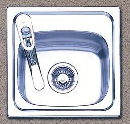 Oliveri 480-0 Stainless Steel Bar Sink, Single Basin, Topmount