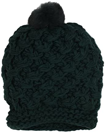 Vince Camuto Women's Tuck Stitch Crochet Edge Slouchy Beanie, Green, One Size