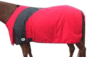 Intrepid International Prima Medium Weight Turnout Blanket, 77-Inch, Red