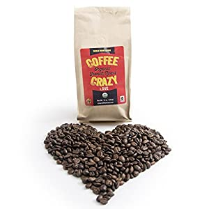 CoffeeCrazy Premium USDA Organic, 12 0z - Fair Trade French Roast whole Bean Coffee (Whole Coffee Beans)