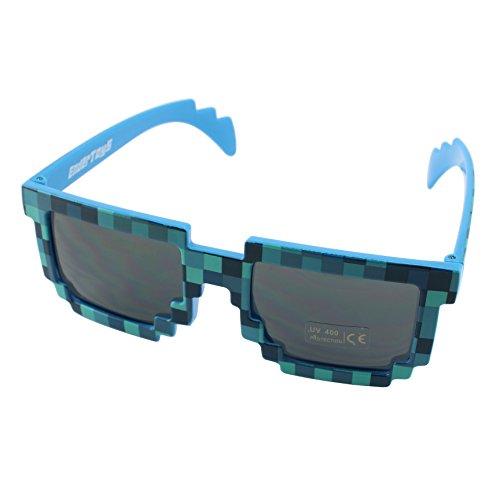8-Bit Gioco Retrò Pixel Occhiali da Sole - Colore: Blu by EnderToys
