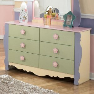 Girls Pastel Bedroom Dresser from Famous Brand Furniture