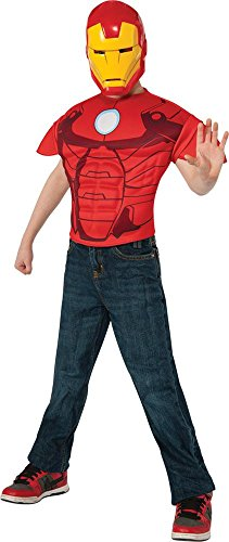 Iron Man Boys Costume Movie Marvel Comics Superhero Muscles Top