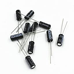 WYPH 12 Value 1UF-470UF Electrolytic Capacitors kit,50V1UF (Each 10pcs) Pack of 120pcs