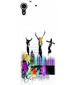 PRINTSWAG DANCING GROUP Designer Back Cover Case for HTC DESIRE 728