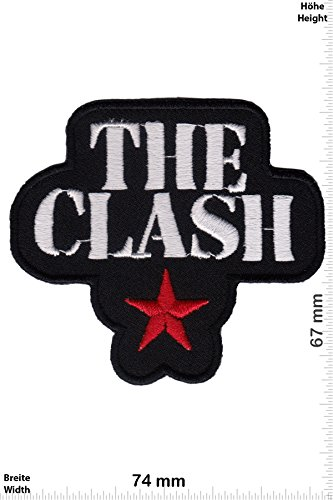 Patch - The Clash - black - Musicpatch - Rock - Vest - Iron on Patch - toppa - applicazione - Ricamato termo-adesivo - Give Away