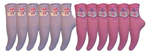 bon-marche-12-chausettes-pour-filles-bonhomme-de-neige