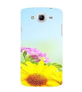 PrintVisa Flower Design 3D Hard Polycarbonate Designer Back Case Cover for Samsung Galaxy Mega 5.8