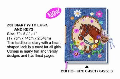 Hot Focus Horse Diary With Lock - 1