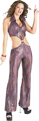 Sequin Disco Girl Costume Size: Women's Small 5-7