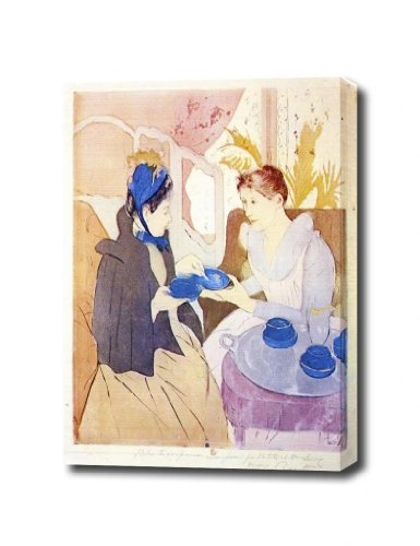 Tea In The Afternoon By Cassatt Canvas Art Print, 14 X 17 Ready To Hang