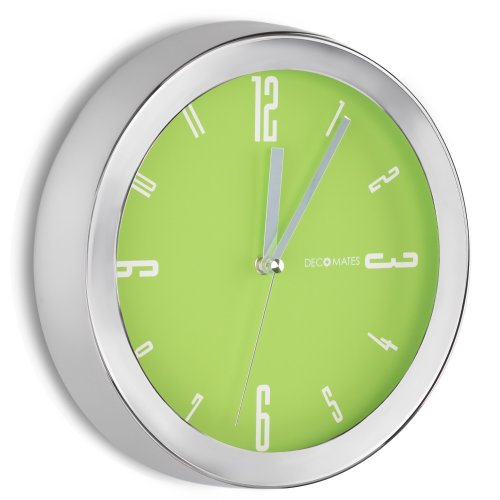 bright lime green wall clock