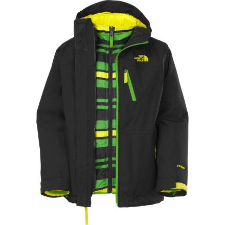 The North Face Storm Runner Triclimate Jacket - Big Youth Boys Winter Coat Bl/Gr (Xs 6) front-739737