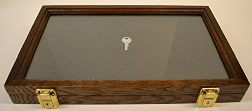 Two Timbers Display Case Oak with Walnut Finish 2
