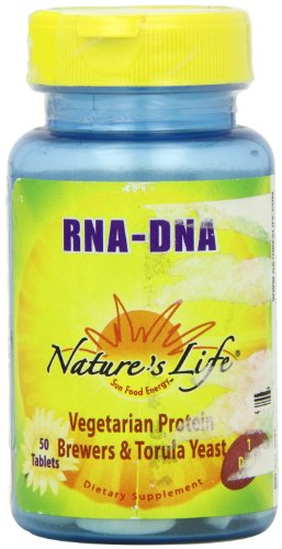 Nature'S Life Yeast Rna/Dna , 324/32.4 Mg, Vegetarian Protein, Brewers & Torula Yeast, 50 Tablets