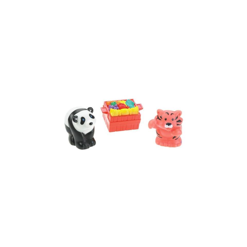 Fisher Price Little People Animal Figures (Panda, Tiger w/basket)