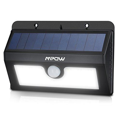 Mpow Lampada Wireless ad Energia Solare da Esterno Impermeabile con Sensore di Movimento, Luci Solari da Esterni con 20 Lampadine LED, 3 Modalità Funzione, per Parete, Muro, Giardino, Terrazzino, Cortile, Casa, Corraio ecc