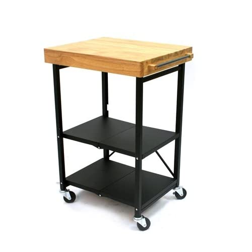 Folding kitchen cart metal and wood 89 blogs forums for Collapsible kitchen cart