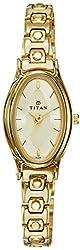 Titan Karishma Analog Champagne Dial Womens Watch - NE2214YM02