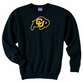 Champion NCAA Unisex Adult Colorado Golden Buffaloes Powerblend Crew (Black, Medium) by Champion