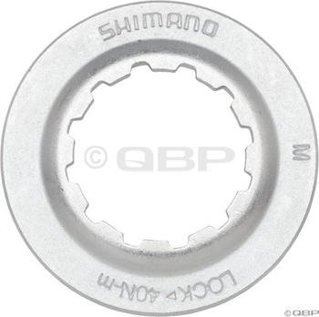 Buy Low Price Shimano Centerlock Rotor Lockring Silver/Steel (Y8K998010)