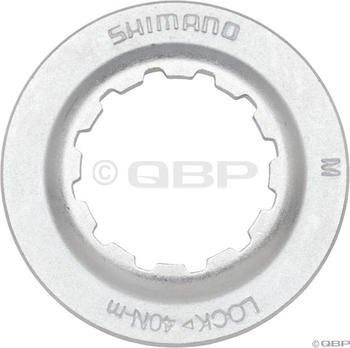 Image of Shimano Centerlock Rotor Lockring Silver/Steel (Y8K998010)