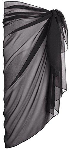 ESMARA® Damen Pareo (schwarz, ca. B 110 x L 180 cm)