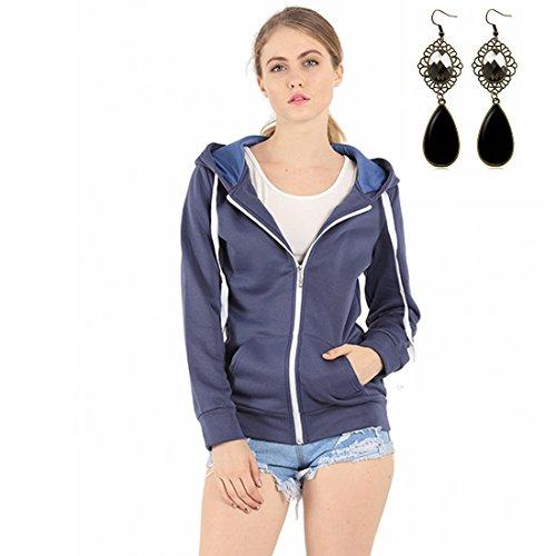 Sitengle Donna Felpe con Cappuccio Basic Giacca Sciolto Hoodies Sweatshirt Caldo Addensare Pullover Casuale Manica Lunga Cappotti Maglietta Tops