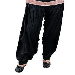 Jehal women's cotton Patiala salwar (black_Free size)