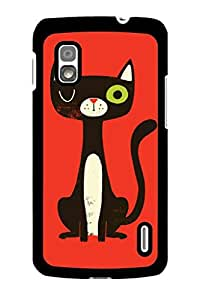 Caseque Bunk Cat Back Shell Case Cover For Google Nexus 4