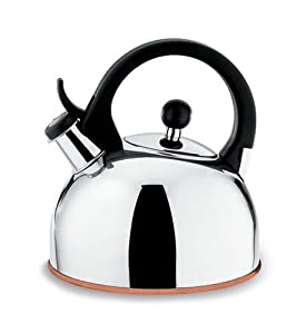 Copco Gismo 1-1 4-Quart Teakettle, Polished Stainless Steel with Copper Bottom by Copco