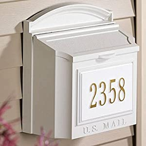 Whitehall Products WH-16105 Wall Mount Package (w/Address Plaque) - White