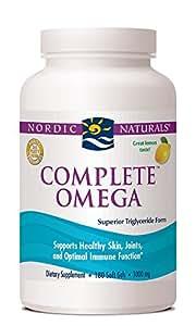 Nordic Naturals Complete Omega, Lemon Flavored, 180 Soft Gels,(1000mg soft Gels/565mg Omega-3/70mg GLA)