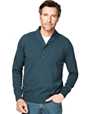 XS Pure Cotton Y-Neck Mock T-Shirt Jumper
