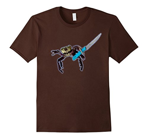 mens-premium-gangster-crab-funny-t-shirt-medium-brown