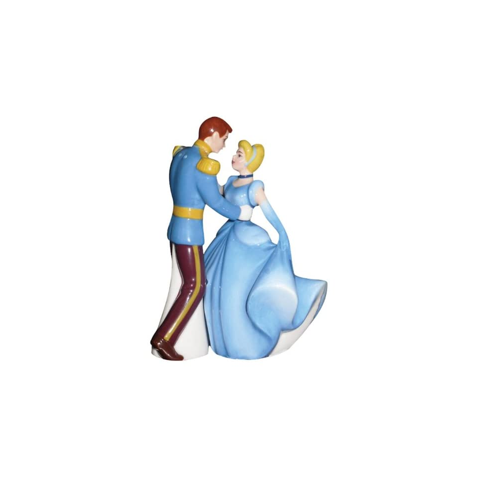 Westland Giftware Life According to Disney Princesses Cinderella and Prince Charming Dance 4 Inch Magnetic Salt and Pepper Shakers