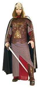 Rubie's 3 56032 - Deluxe Aragon King of Gondor Kostüm, Größe M/L, braun/beige/rot/gold